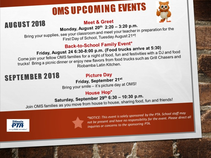 OMS Upcoming Events
